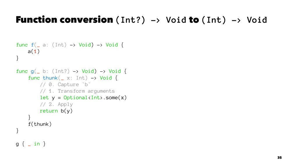 Function conversion (Int?) -> Void to (Int) -> ...