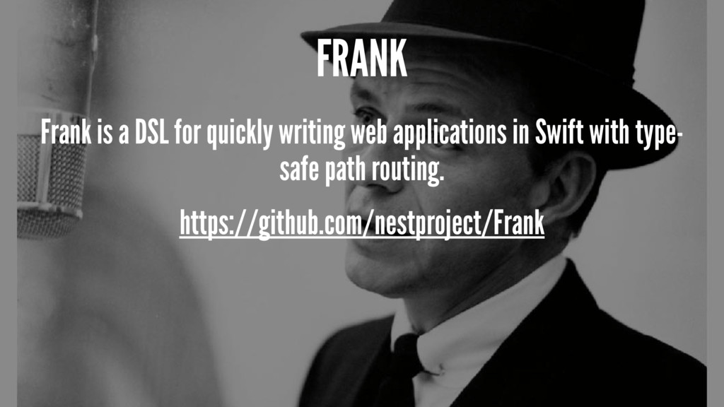 FRANK Frank is a DSL for quickly writing web ap...