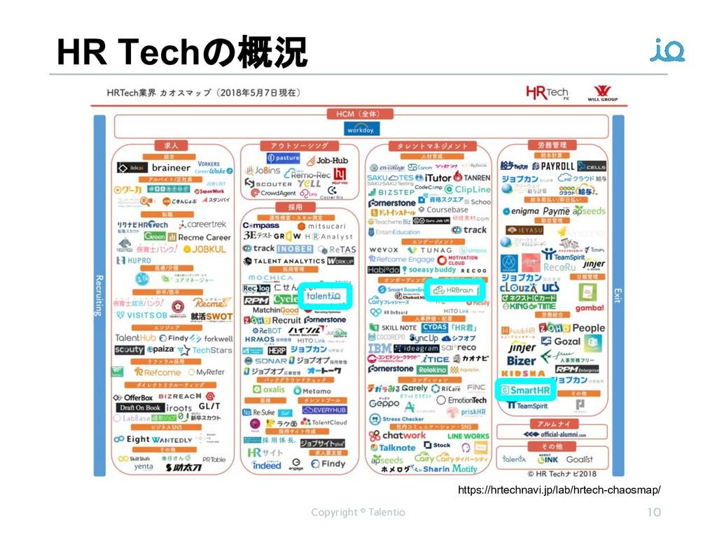 HR Techの概況 Copyright © Talentio 10 https://hrte...
