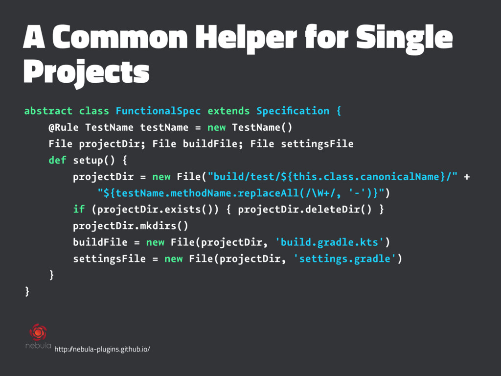 A Common Helper for Single Projects abstract cl...