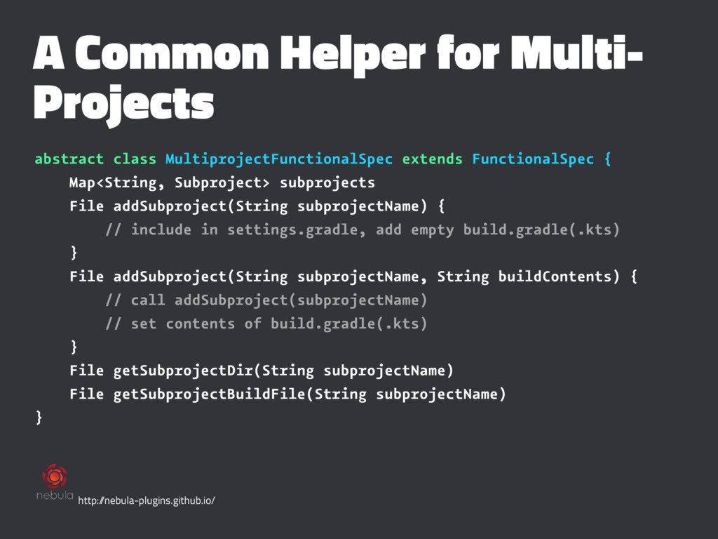 A Common Helper for Multi- Projects abstract cl...