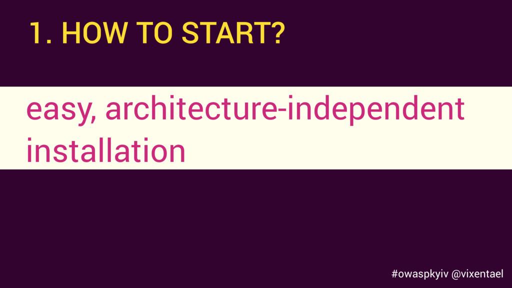 #owaspkyiv @vixentael easy, architecture-indepe...