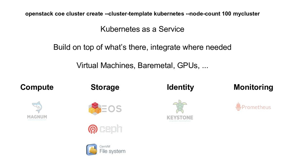 Kubernetes as a Service Build on top of what's ...
