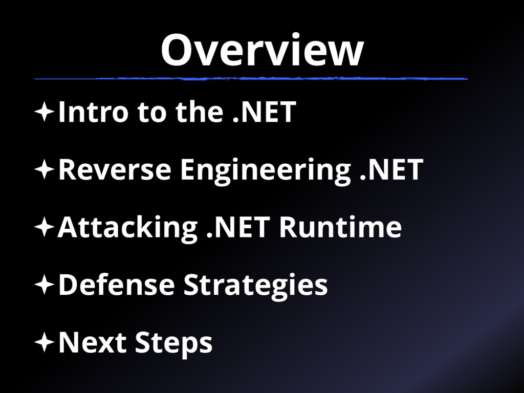Overview Intro to the .NET Reverse Engineerin...