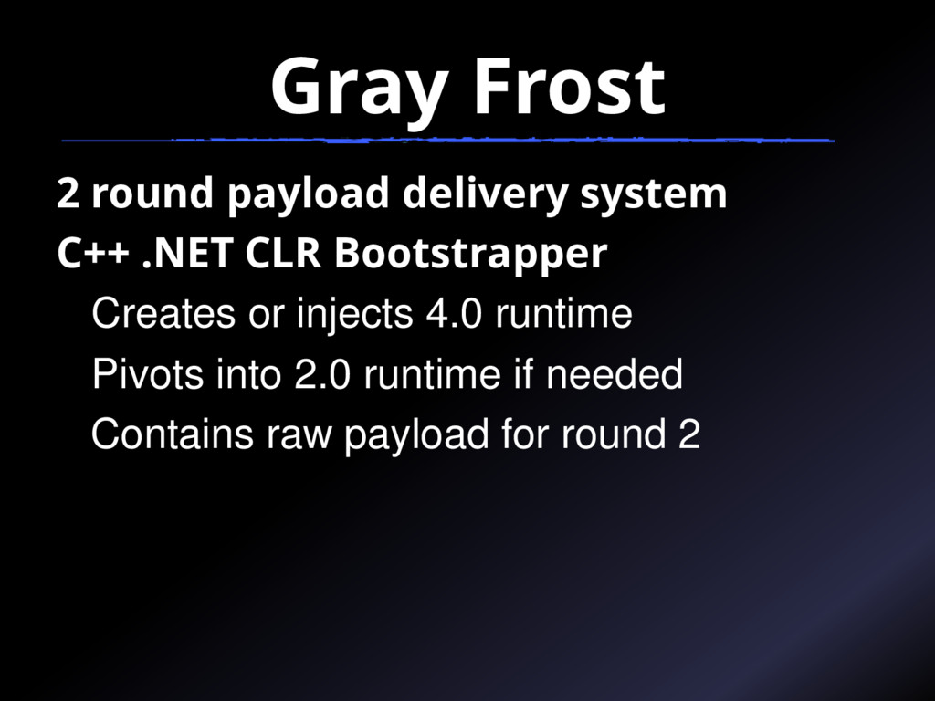 Gray Frost 2 round payload delivery system C++ ...