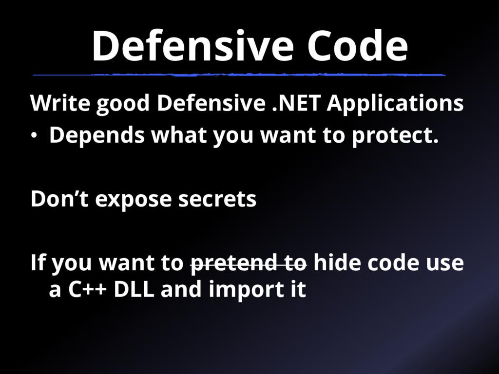 Defensive Code Write good Defensive .NET Applic...