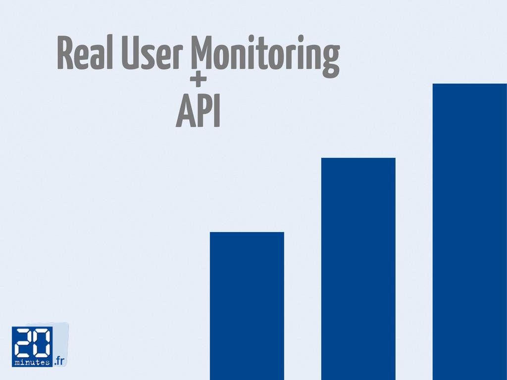Real User Monitoring + API 