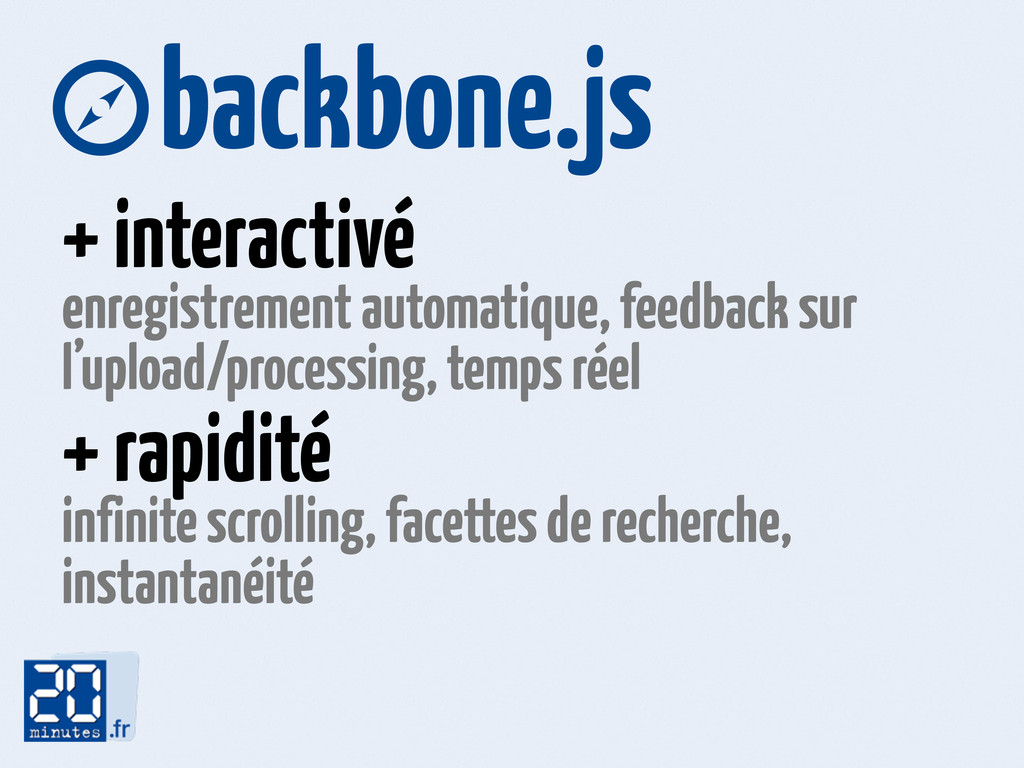 backbone.js + interactivé enregistrement autom...