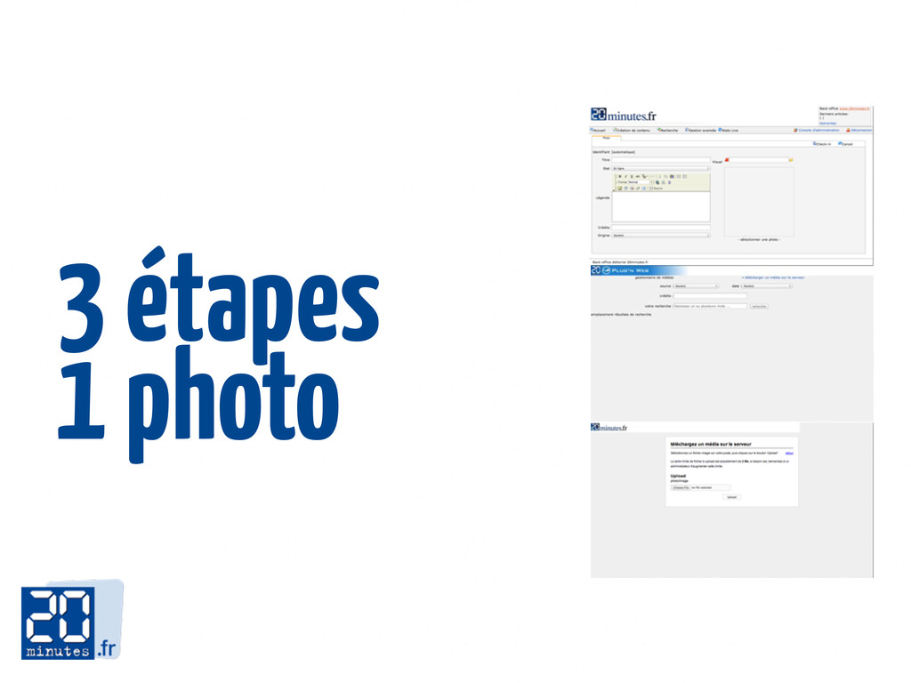 3 étapes 1 photo