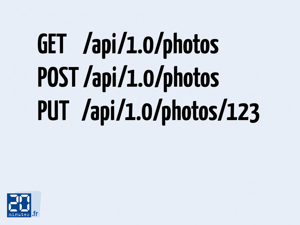 GET /api/1.0/photos POST /api/1.0/photos PUT /a...