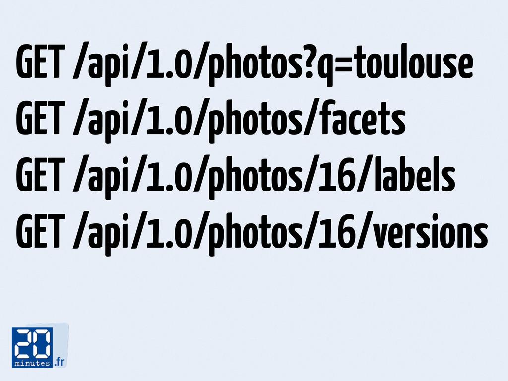 GET /api/1.0/photos?q=toulouse GET /api/1.0/pho...