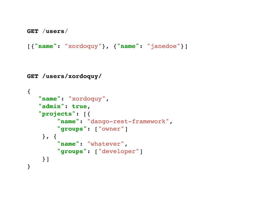 "GET /users/ [{""name"": ""xordoquy""}, {""name"": ""ja..."
