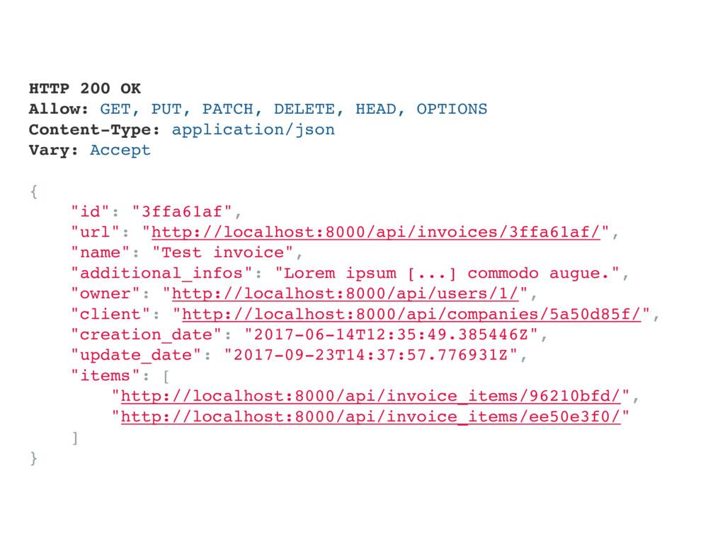 HTTP 200 OK Allow: GET, PUT, PATCH, DELETE, HEA...