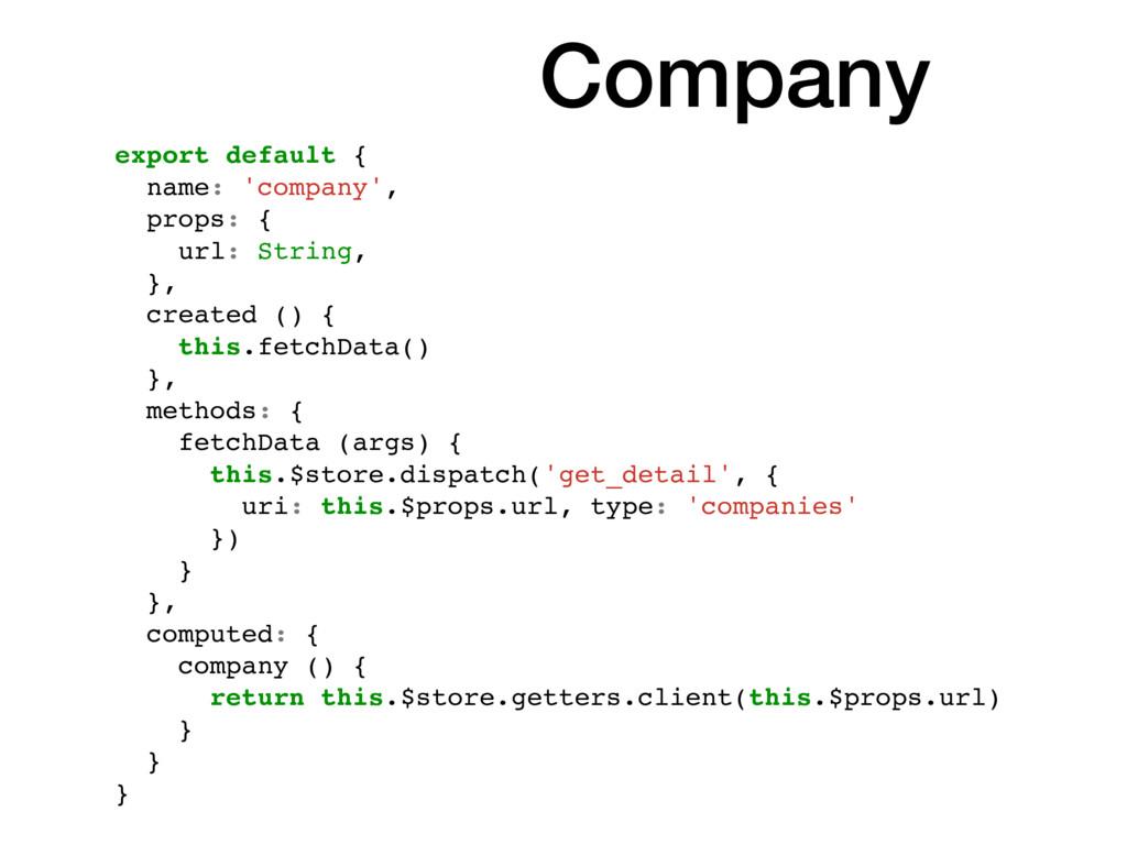 export default { name: 'company', props: { url:...