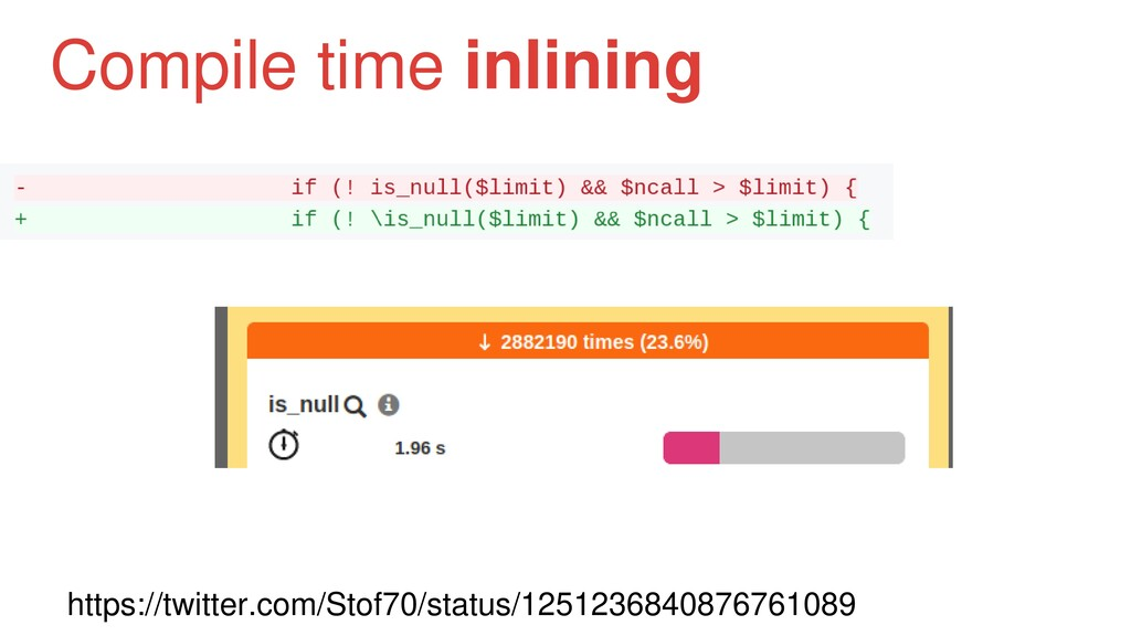 Compile time inlining https://twitter.com/Stof7...