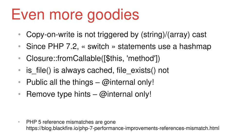 • Copy-on-write is not triggered by (string)/(a...