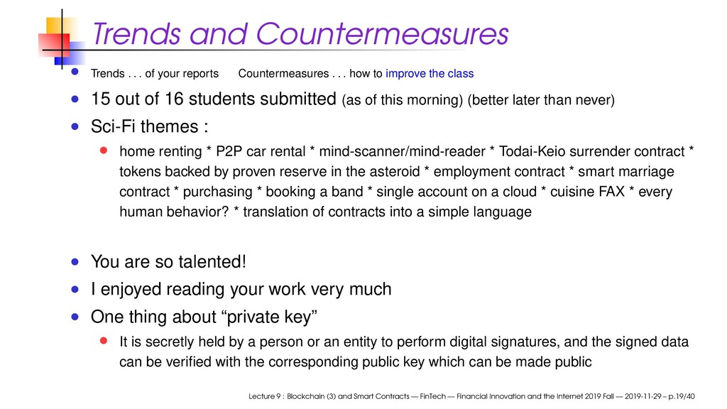 Trends and Countermeasures Trends . . . of your...