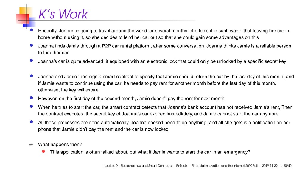 K's Work Recently, Joanna is going to travel ar...