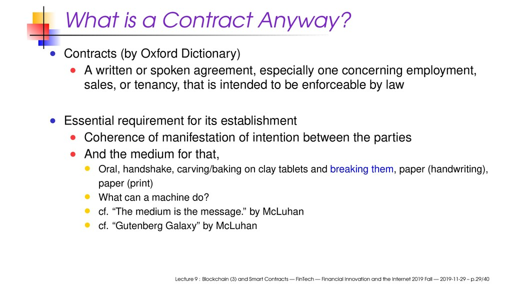 What is a Contract Anyway? Contracts (by Oxford...