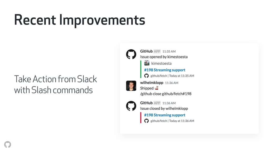 Recent Improvements Take Action from Slack wit...