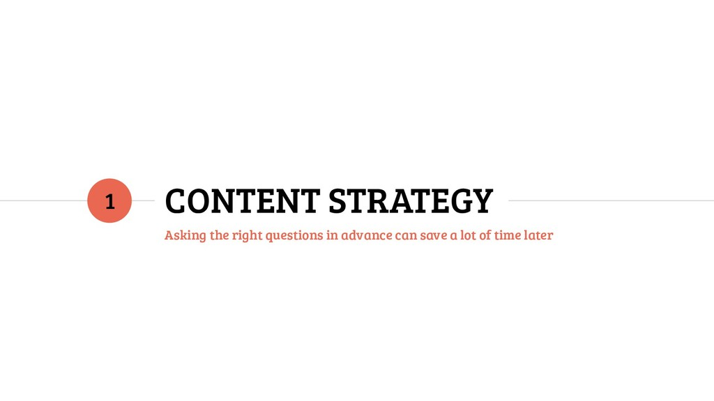CONTENT STRATEGY Asking the right questions in ...