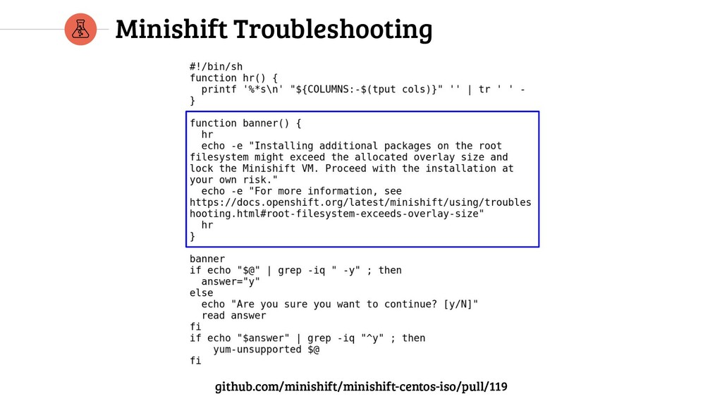 Minishift Troubleshooting github.com/minishift/...