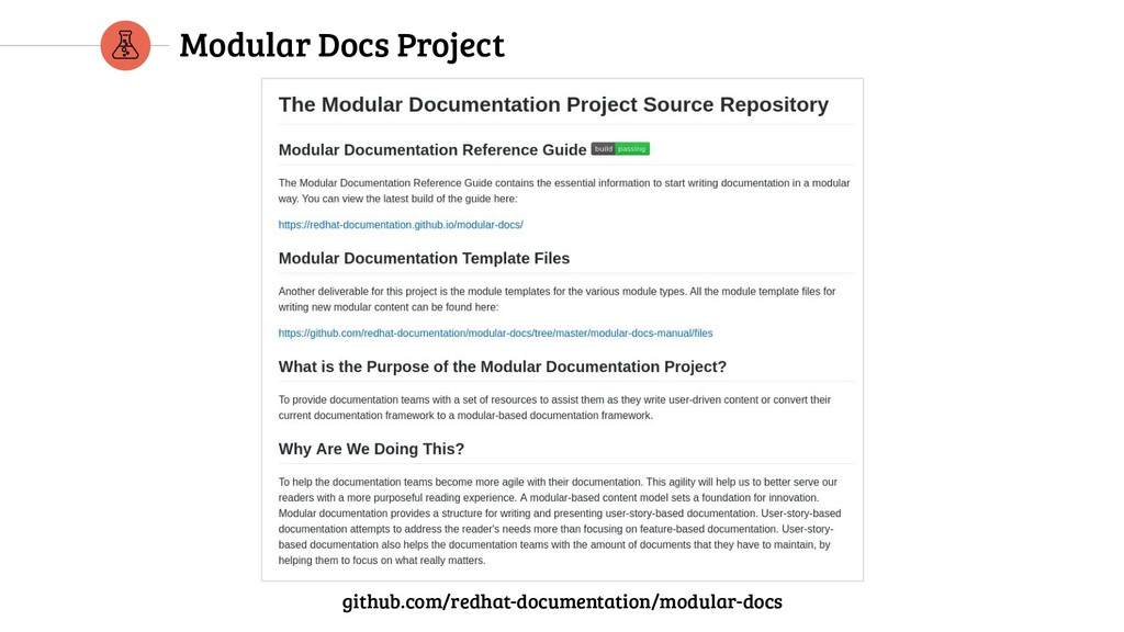 Modular Docs Project github.com/redhat-document...