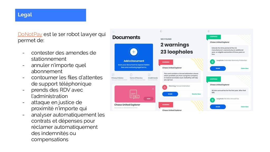 Legal DoNotPay est le 1er robot lawyer qui perm...