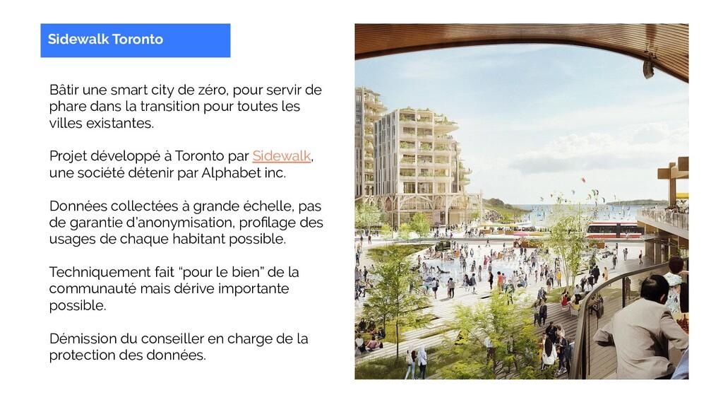 Sidewalk Toronto Bâtir une smart city de zéro, ...