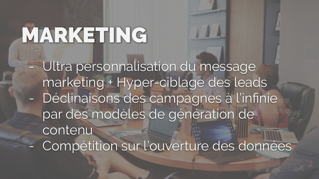 MARKETING - Ultra personnalisation du message m...