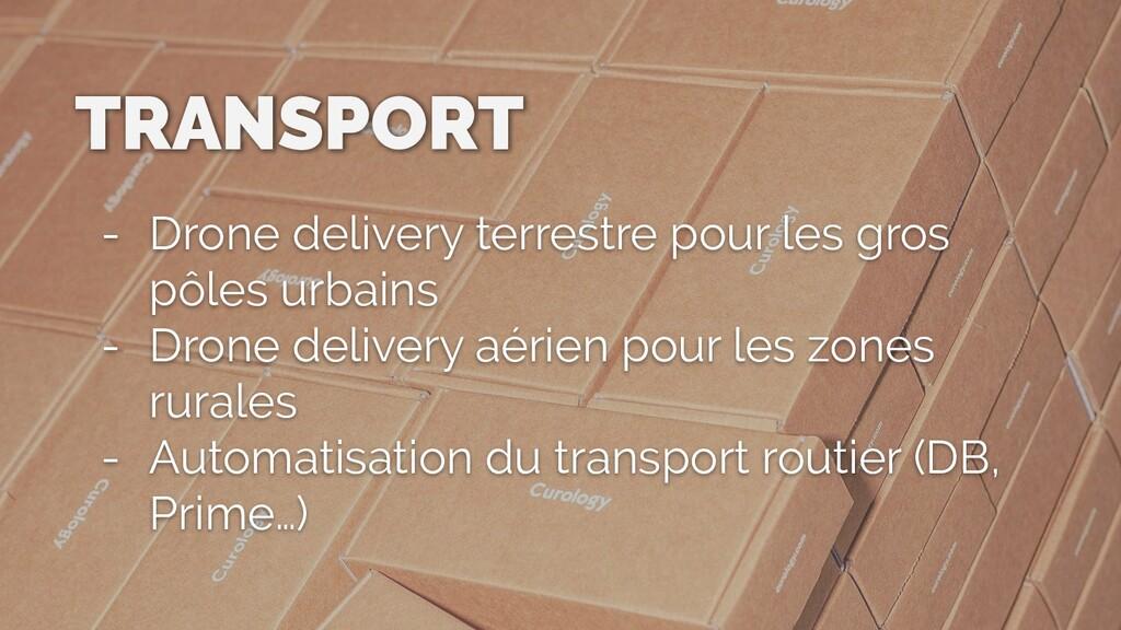 TRANSPORT - Drone delivery terrestre pour les g...