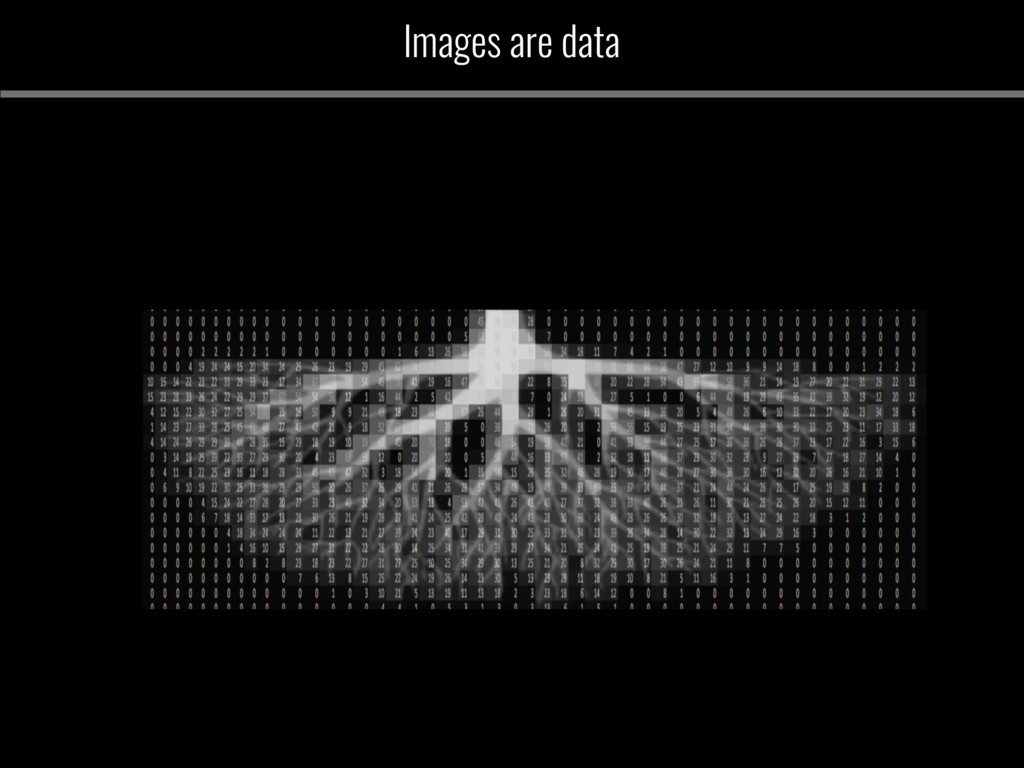 Images are data