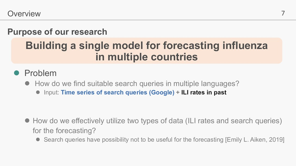 7 Building a single model for forecasting influ...