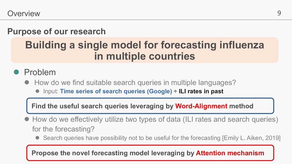 9 Building a single model for forecasting influ...