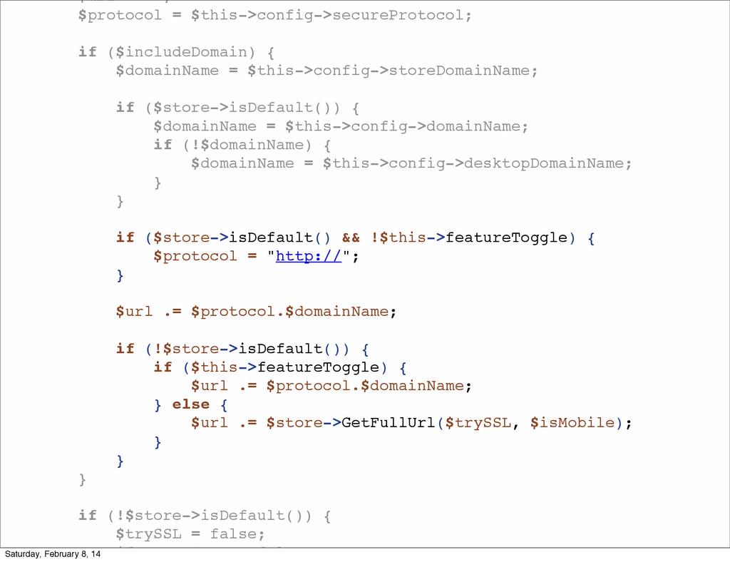 "$url = """"; $protocol = $this->config->securePro..."