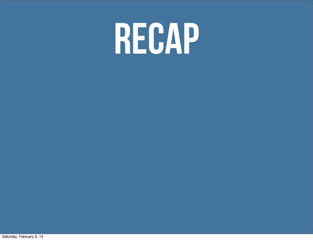 recap Saturday, February 8, 14