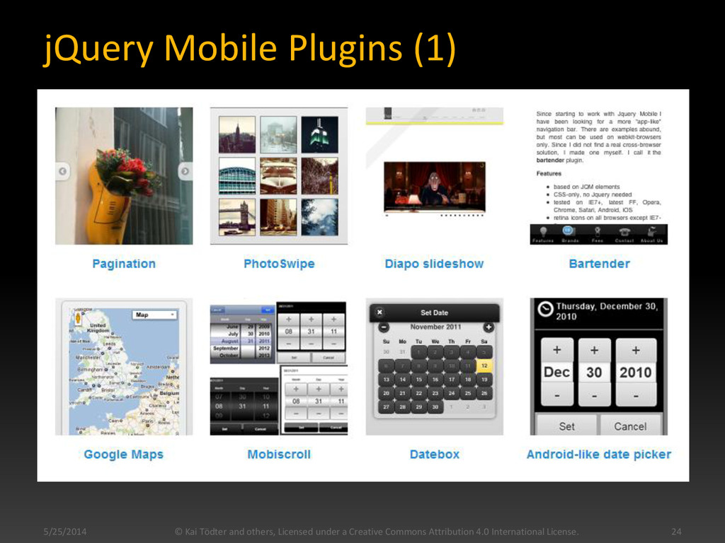 jQuery Mobile Plugins (1) 5/25/2014 © Kai Tödte...