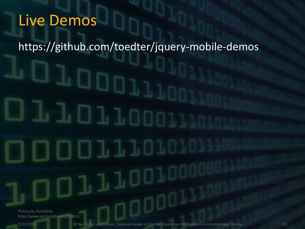 Live Demos https://github.com/toedter/jquery-mo...