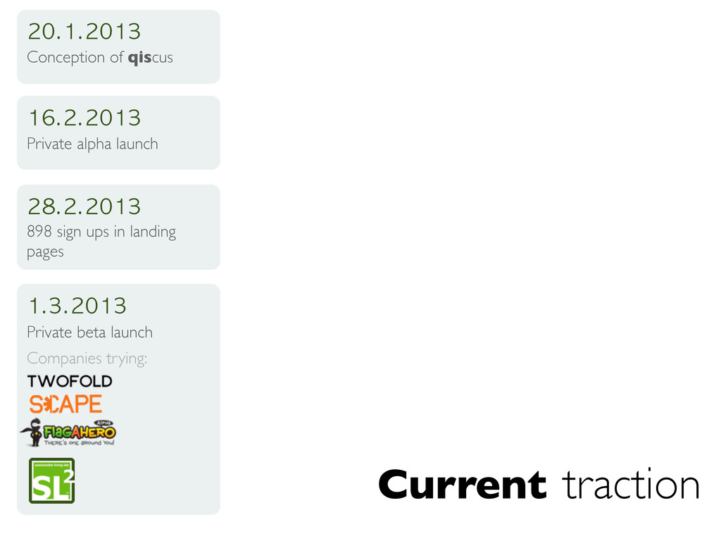 Current traction 20.1.2013 Conception of qiscus...