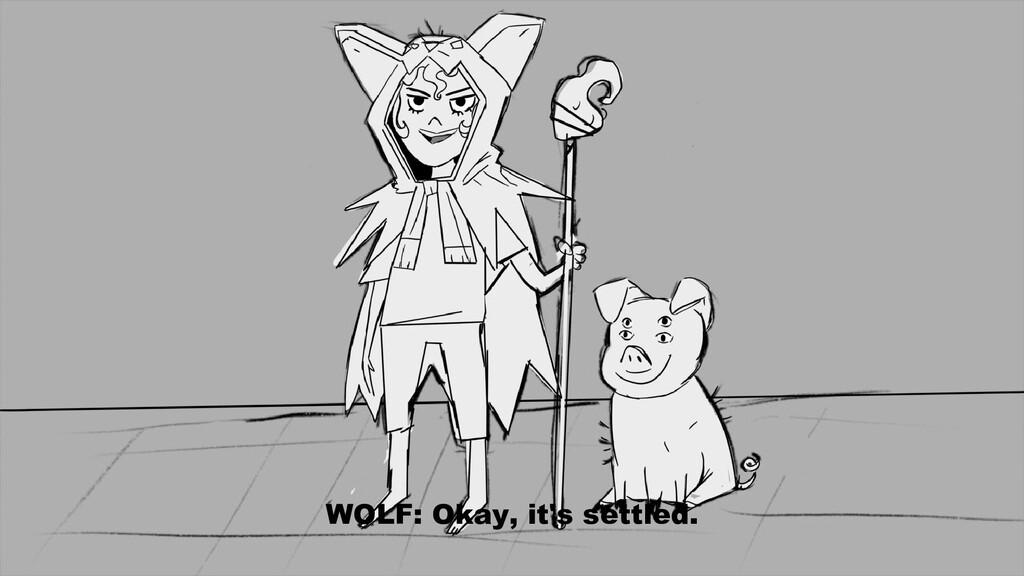 WOLF: Okay, it's settled.