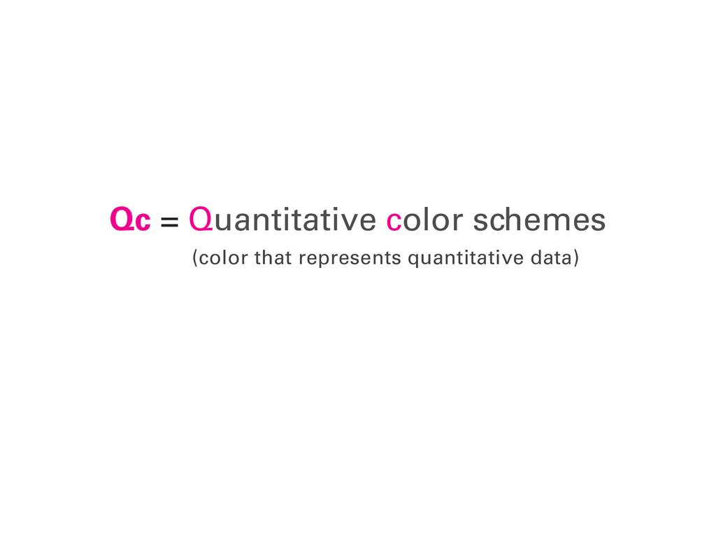 (color that represents quantitative data) Qc = ...