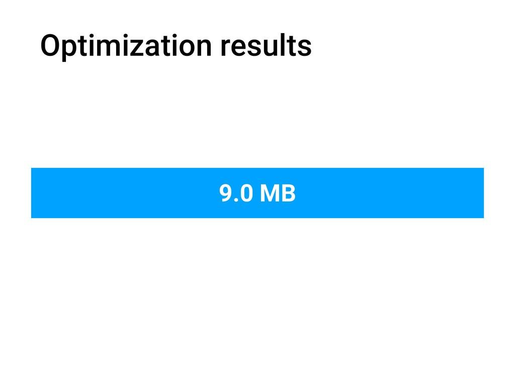 Optimization results 9.0 MB