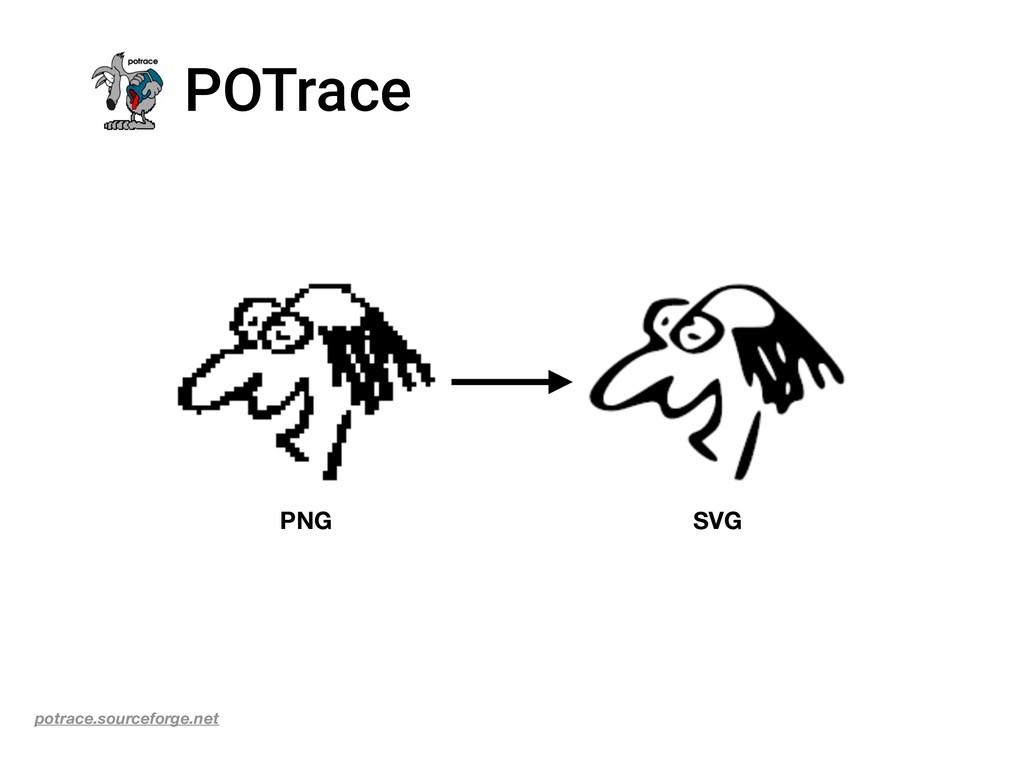 POTrace PNG SVG potrace.sourceforge.net