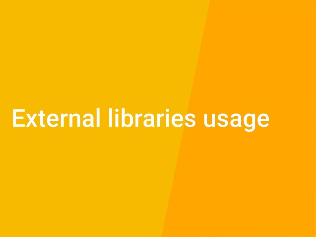 External libraries usage