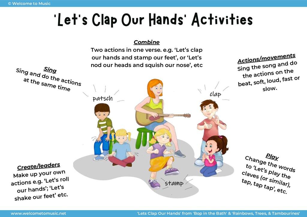 'Let's Clap Our Hands' Activities 'The Melbourn...