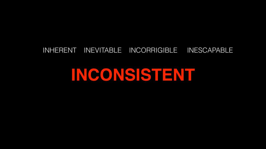 INHERENT INEVITABLE INCORRIGIBLE INESCAPABLE IN...
