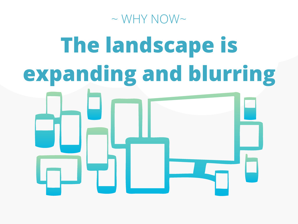 The landscape is expanding and blurring ~ WHY N...