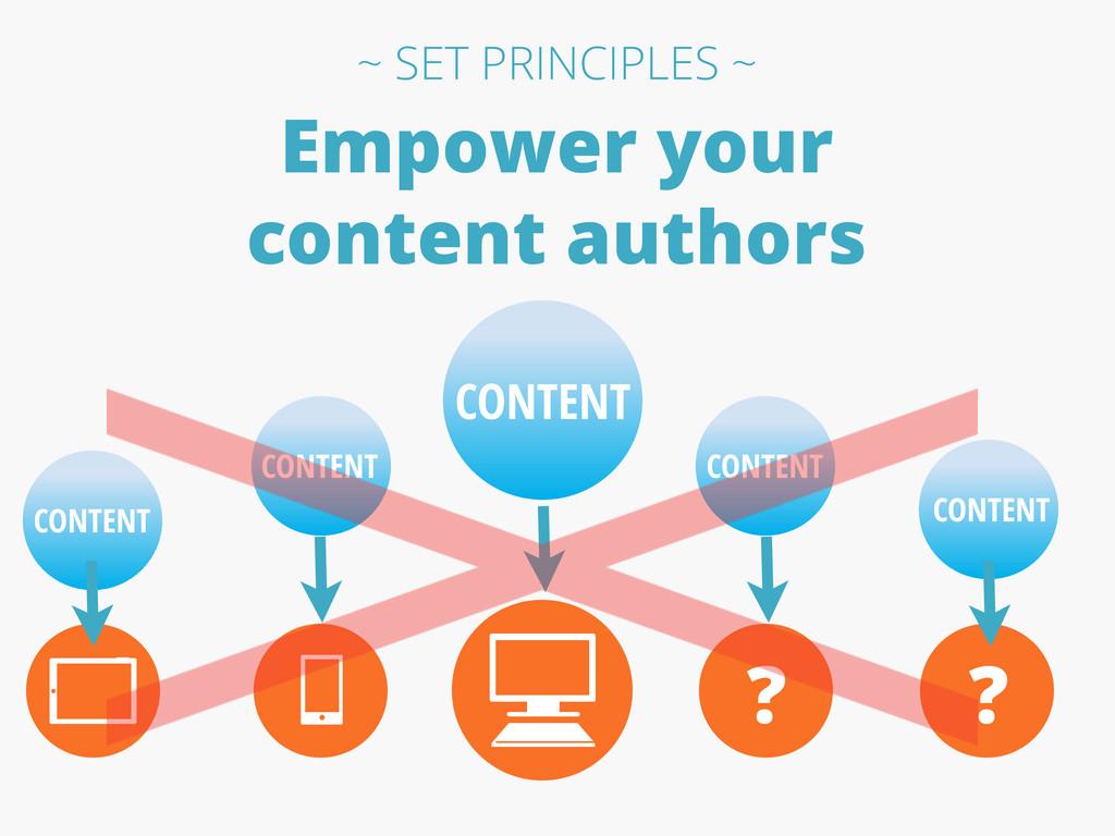 Empower your content authors CONTENT CONTENT CO...