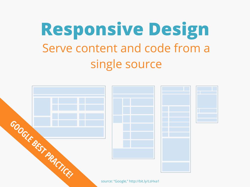 Responsive Design GOOGLE BEST PRACTICE! Serve c...