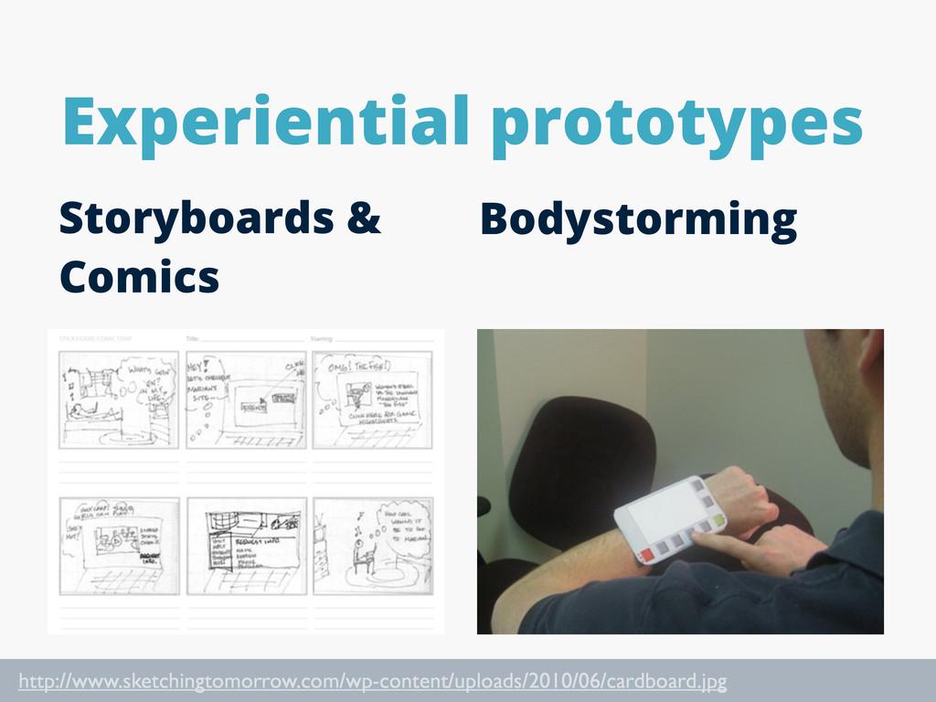 Experiential prototypes Storyboards & Comics Bo...